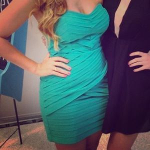 Gianna Bini Mint Green Strapless dress